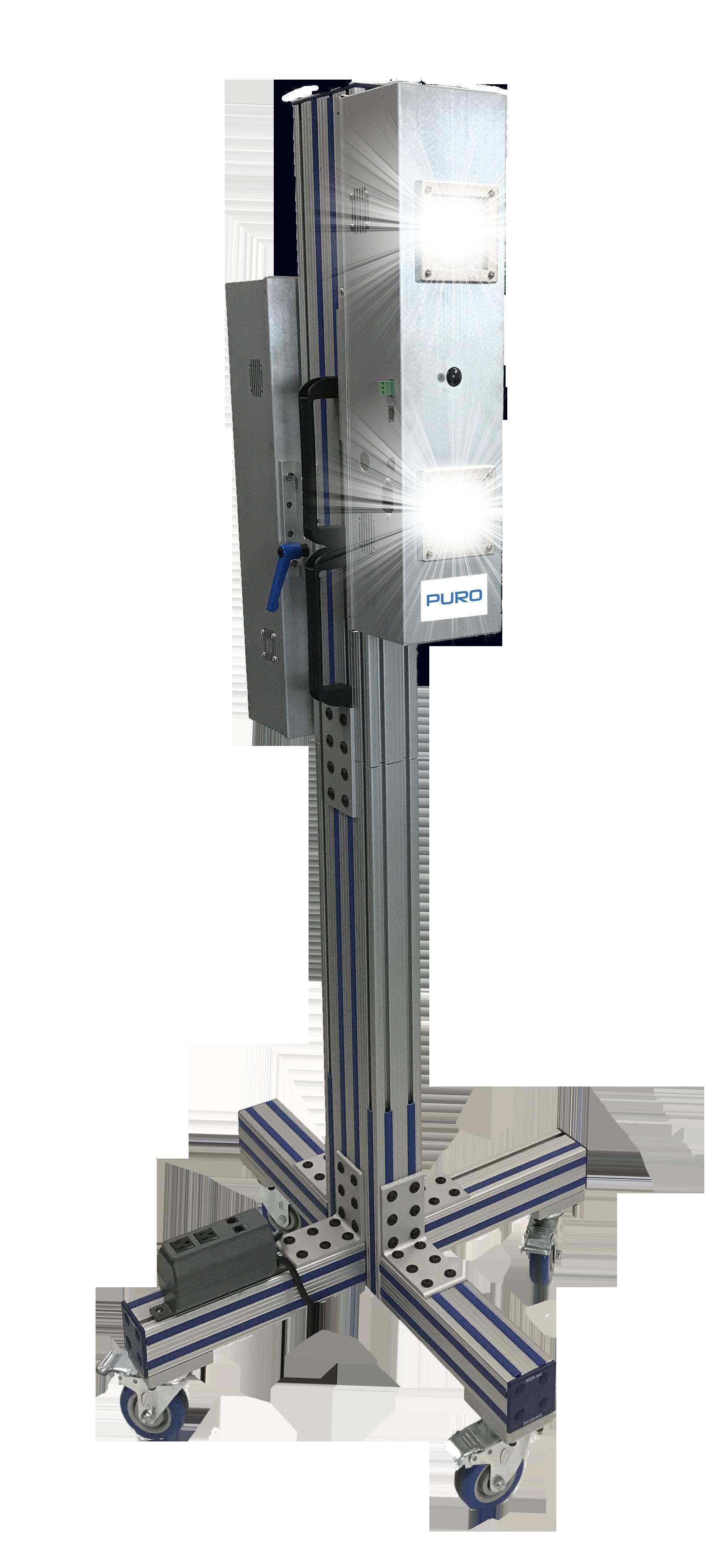 PURO Sentry M4 Mobile UV Light Fixture – Quad UV Lights on Casters